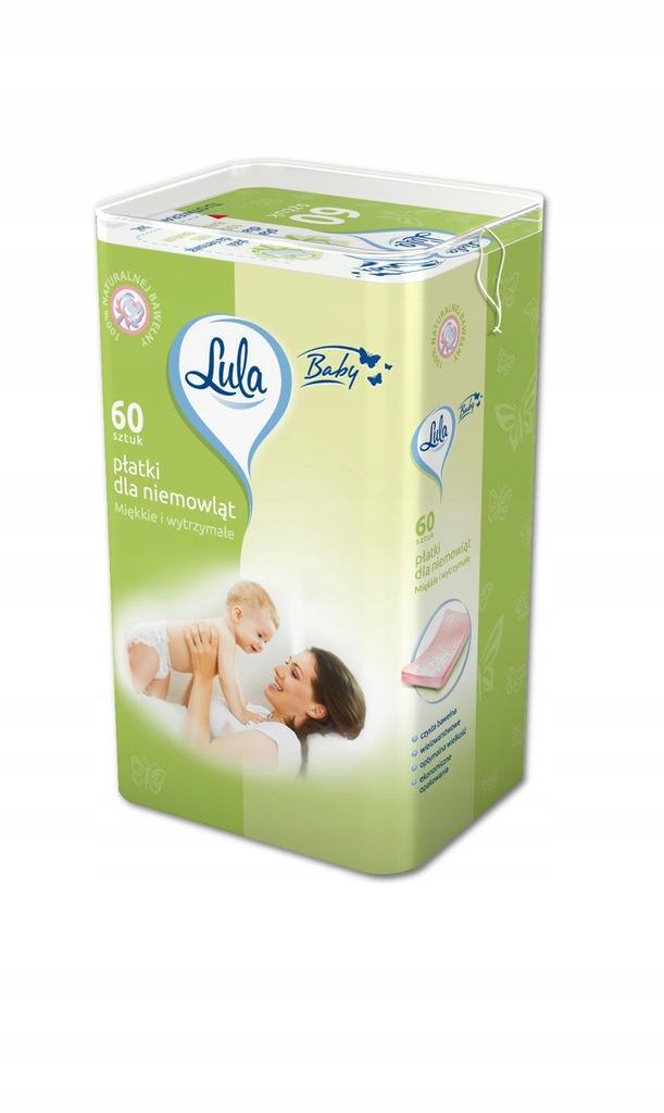 LULA Płatki kosmetyczne dla niemowląt LULA 60 szt