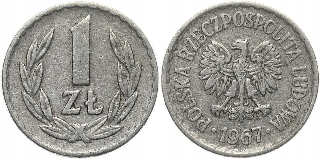 234.Polska - PRL - 1 złoty - 1967 - St.3 #A