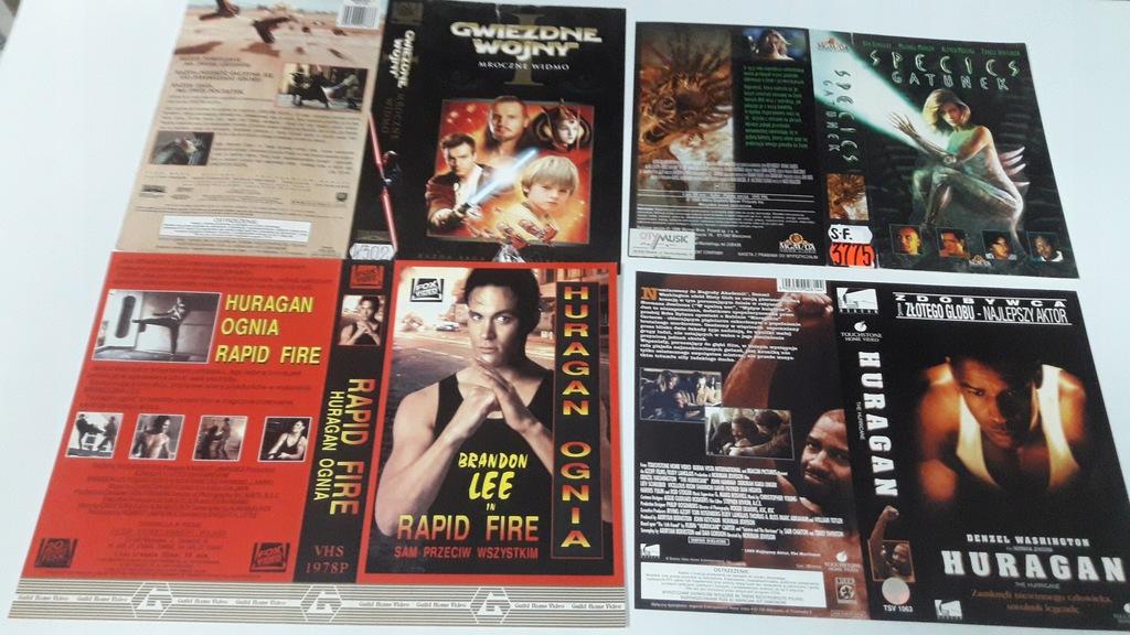 A-0868 pakiet 8 okładek kaset vhs