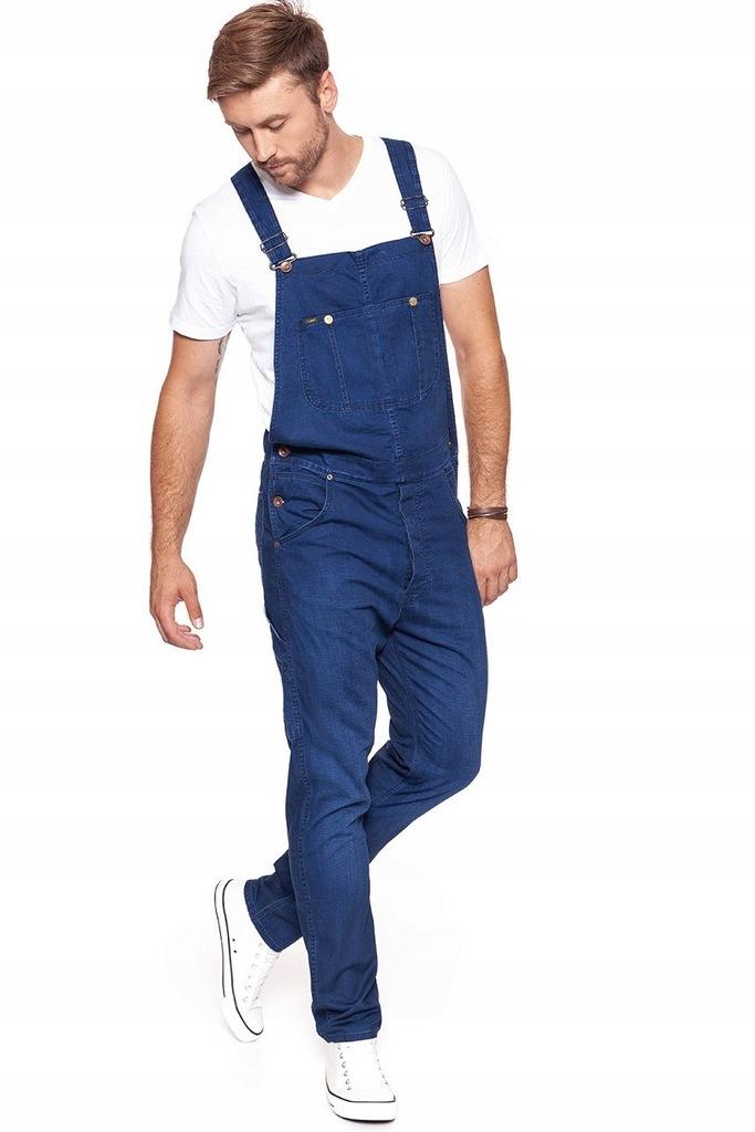Lee Ogrodniczki Męskie Spodnie Jeansowe Regular M Ceny i