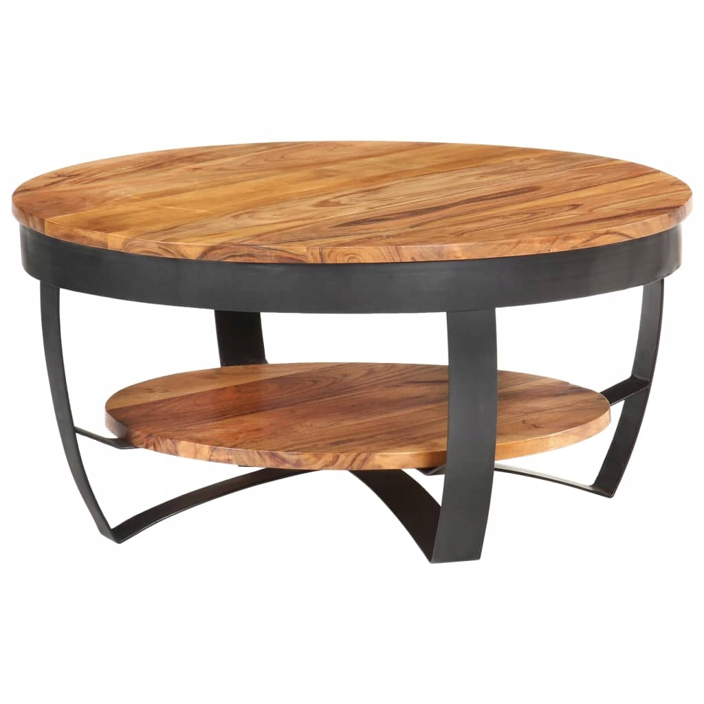 Stolik kawowy, 65 x 65 x 32 cm, lite drewno akacjo