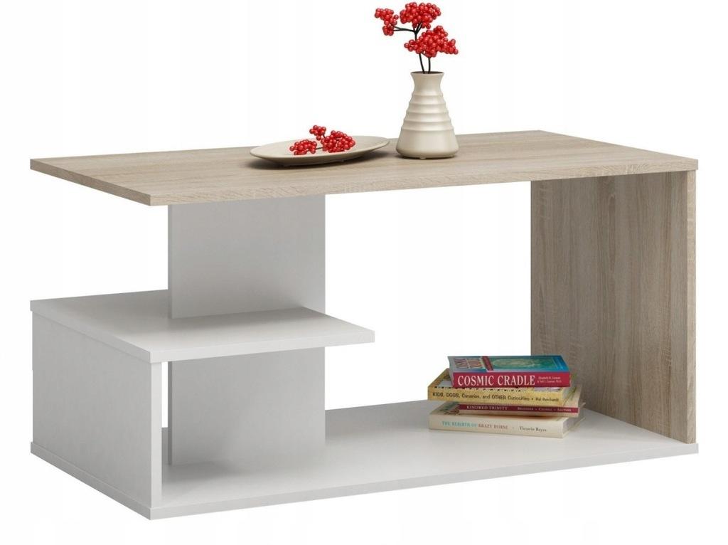 Ława stołowa DOLLY DĄB SONOMA biała pokój salon mi
