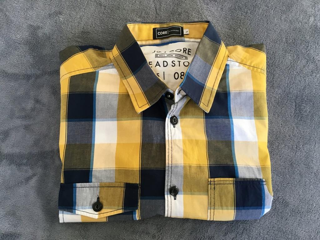 Koszula w kratę Jack Jones L 00716 7684186344  LNkex