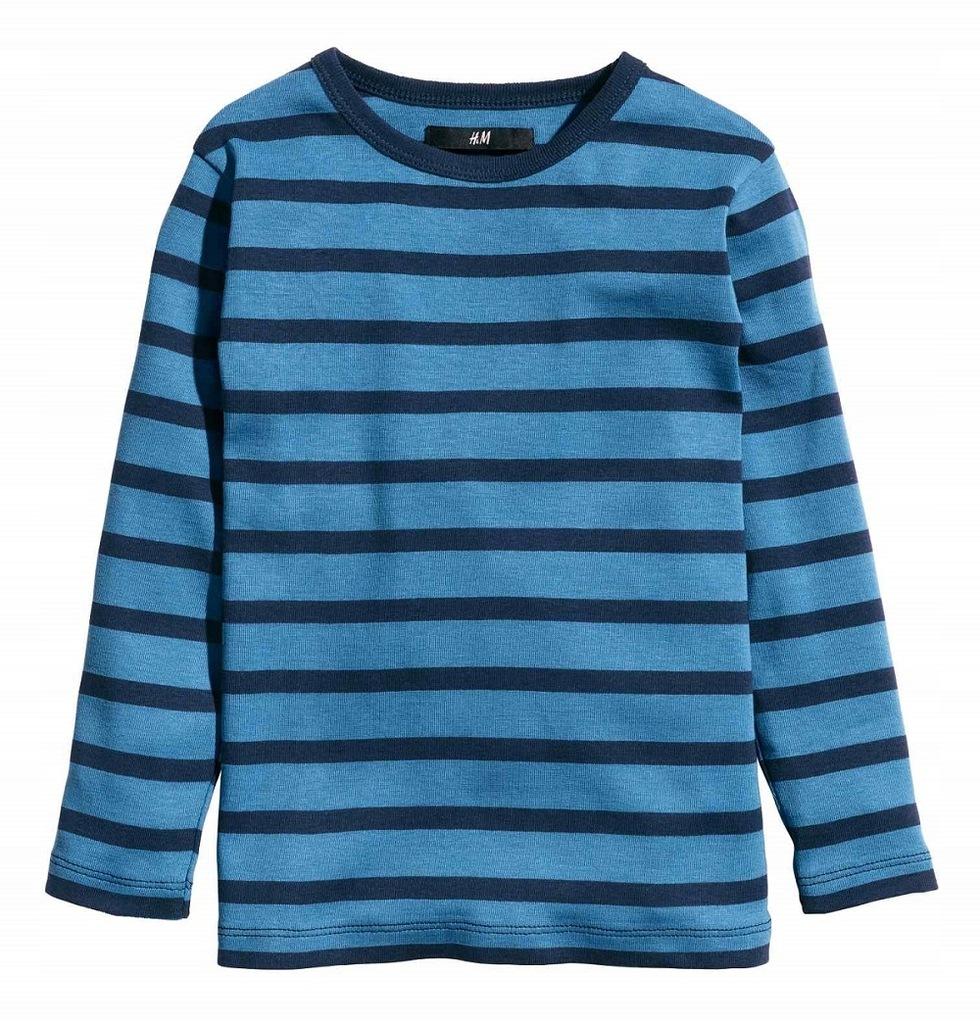 H&M bluzka długi rękaw paski NOWA r. 134/140