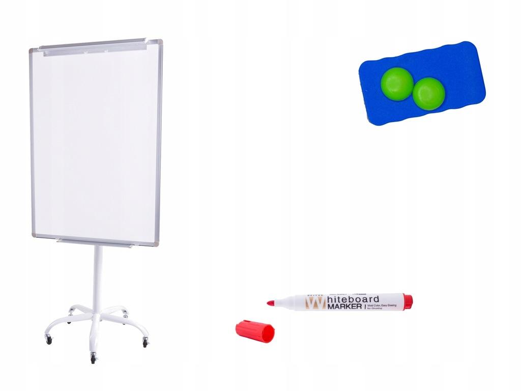 Flipchart 70x100 magnetyczny mobilny kółka gratisy