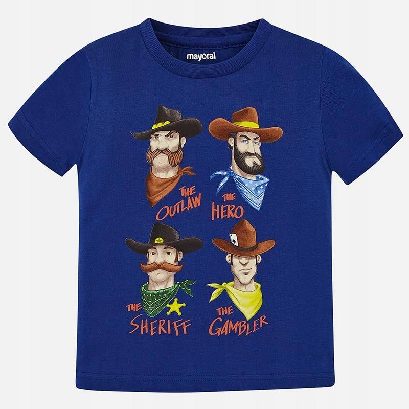 Koszulka krótki rękaw 'cowboys' roz. 128 MAYORAL