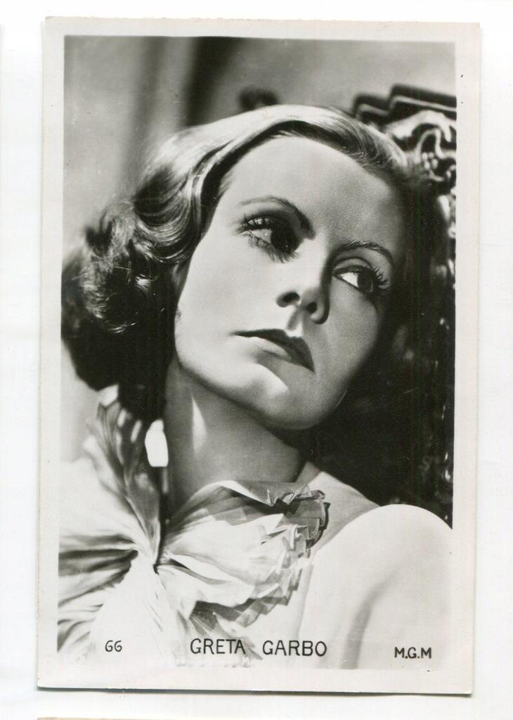 Greta Garbo Kino Film Aktorka Foto Pocztówka 51