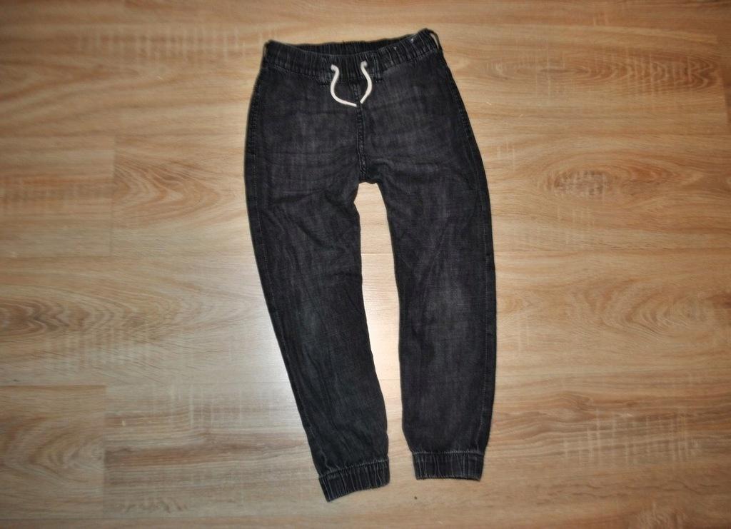 H&M miękkie JEANSY spodnie PUMPY GUMA 122