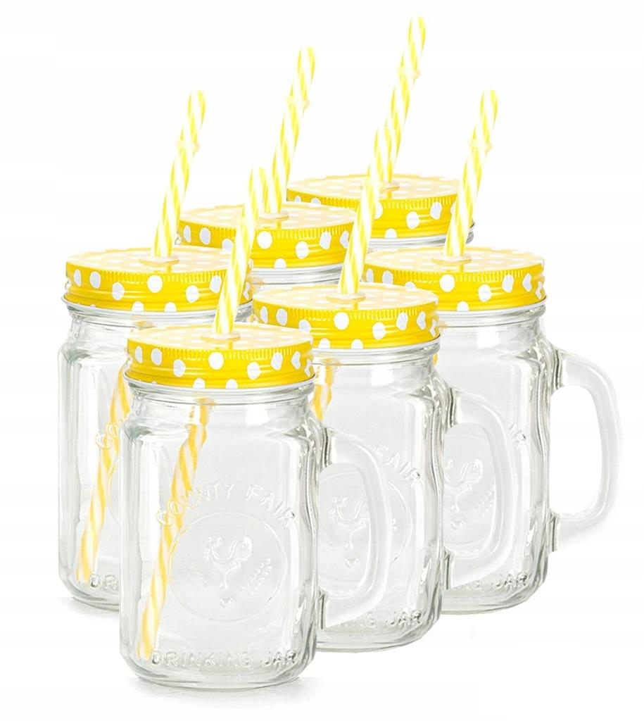Sloik Do Picia Kubek Z Uchem Drink Jar 750 Ml 7077929513 Oficjalne Archiwum Allegro