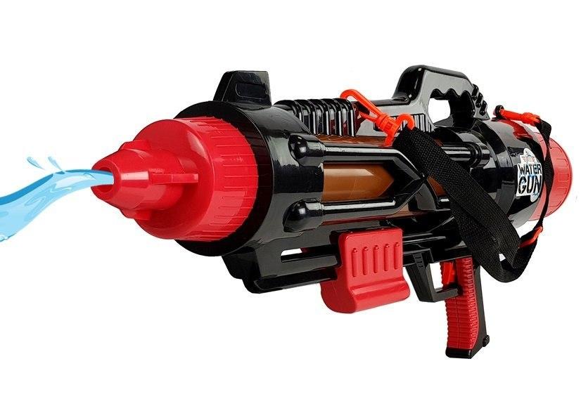 Ogromny Pistolet na Wodę Czarno- Czerwony 74 cm