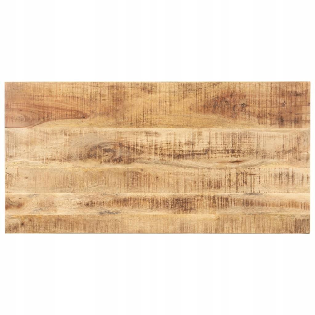 Blat stołu, lite drewno mango, 15-16 mm, 140x60 cm