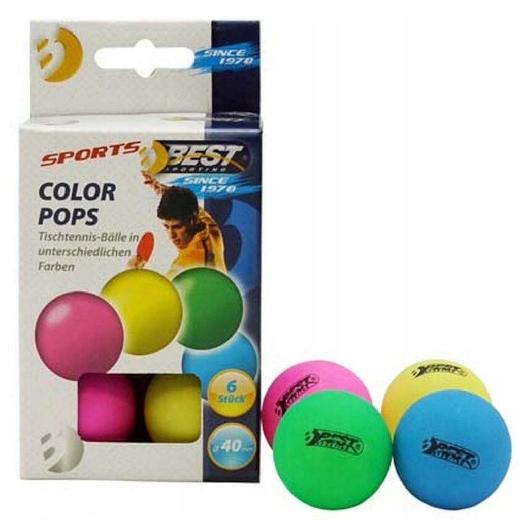 Piłeczki do tenisa stołowego kolorowe 6szt Best Sp