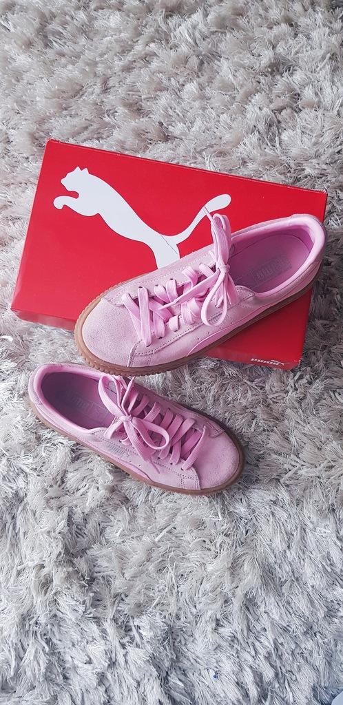 Buty puma suede platform pink nie fenty basket