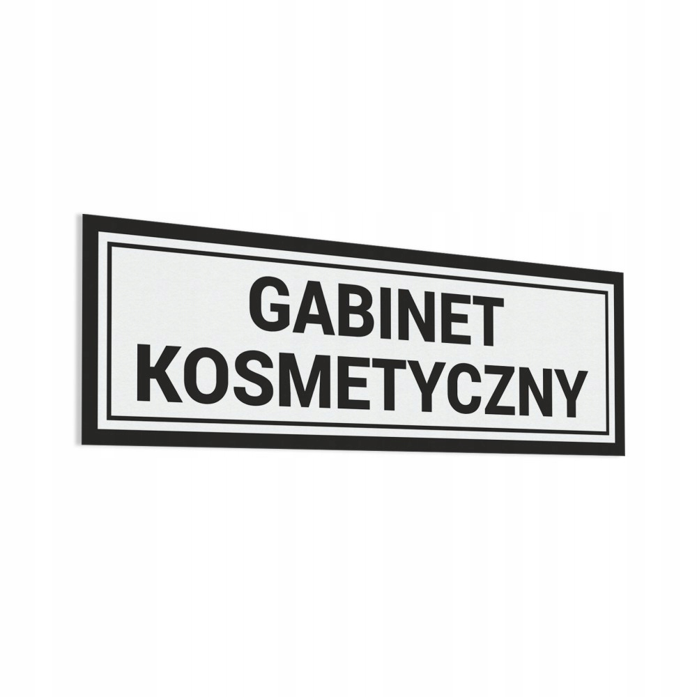 Gabinet Kosmetyczny - Naklejka na drzwi 30x10