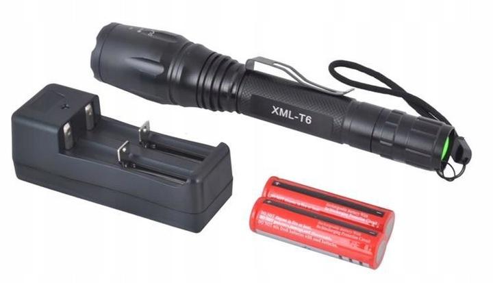 LATARKA Cree LED XM-LT6 + ładowarka+4 akumulatory!