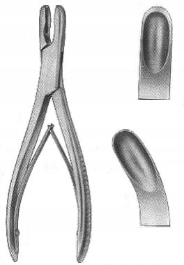 Odgryzacz kostny typ Luer 17 cm - zagięty