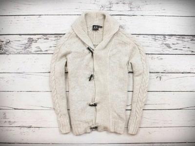 Armani Exchange kremowy kardigan sweter