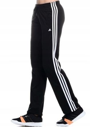 adidas climalite damskie dresy czarne biale paski