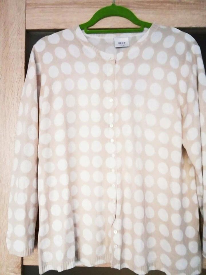 Sweterek kremowy jak NOWY kropeczki NEXT 46