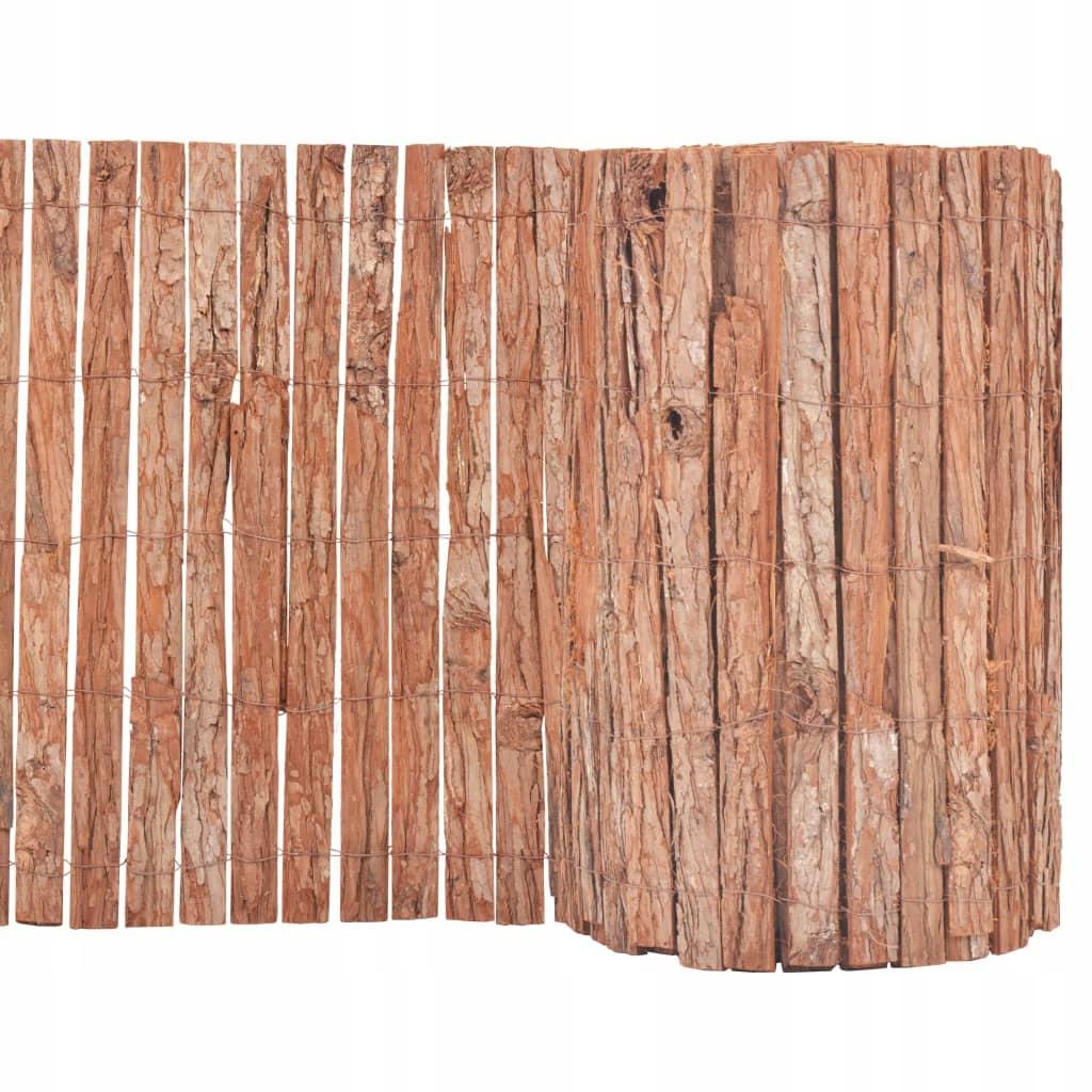 Ogrodowy panel ogrodzeniowy, kora, 1000x50 cm