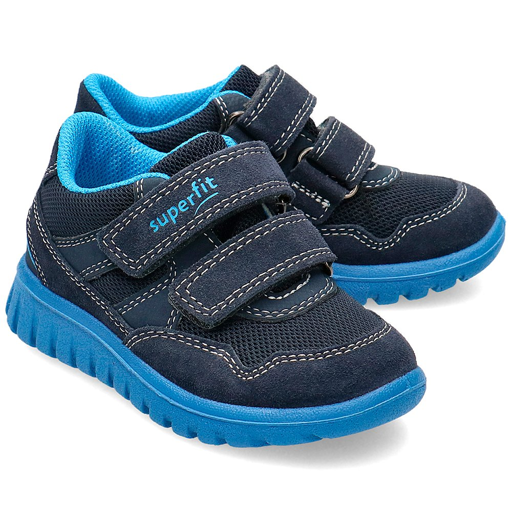 Superfit Granatowe Sneakersy Dziecięce Rzepy R.30