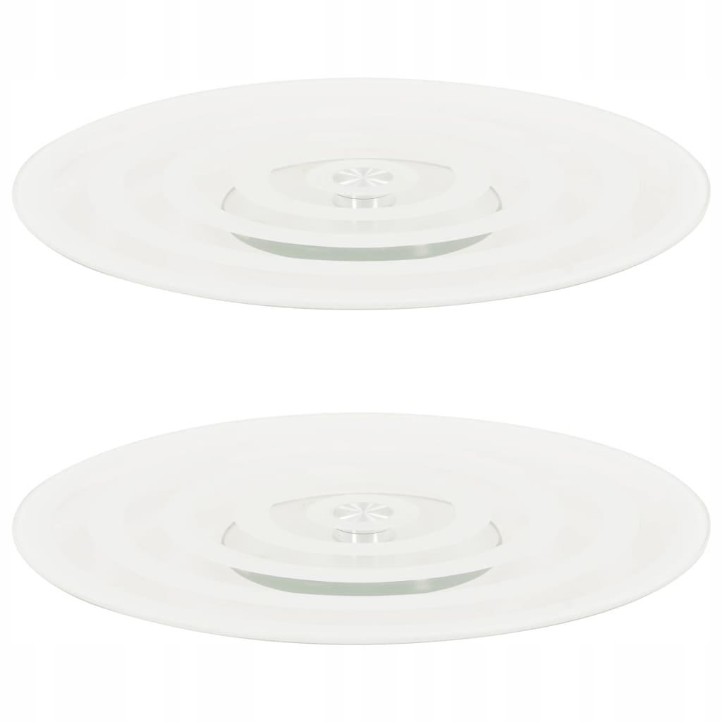 Obrotowe tace, 2 szt., przezroczyste, 30 cm, harto