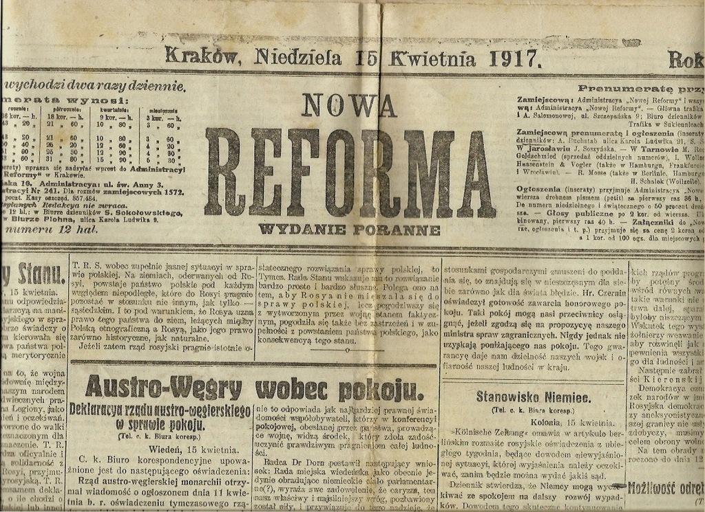 1917 175 Lwów Warszawa Kraków Tarnów Żywiec