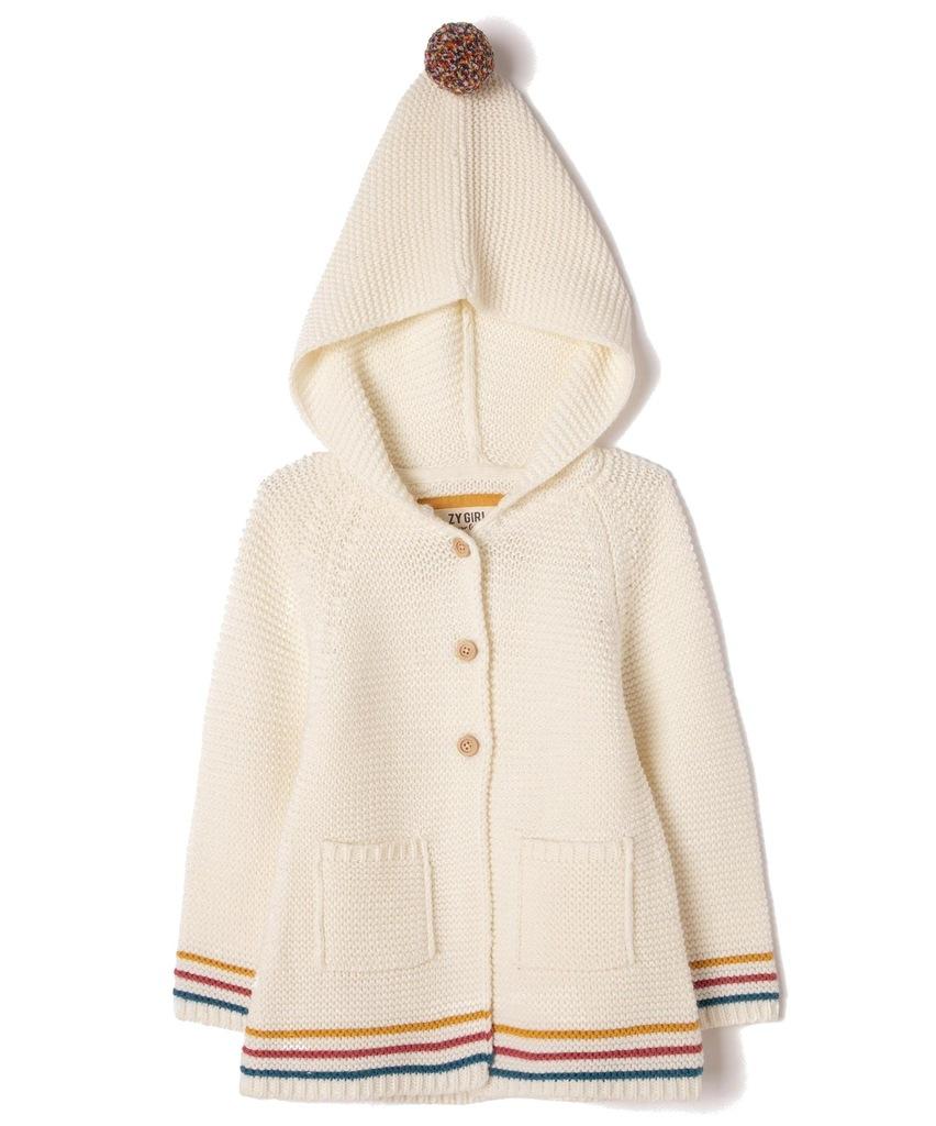 Sweter z kapturem dziewczęcy Zippy 6841926 r 138