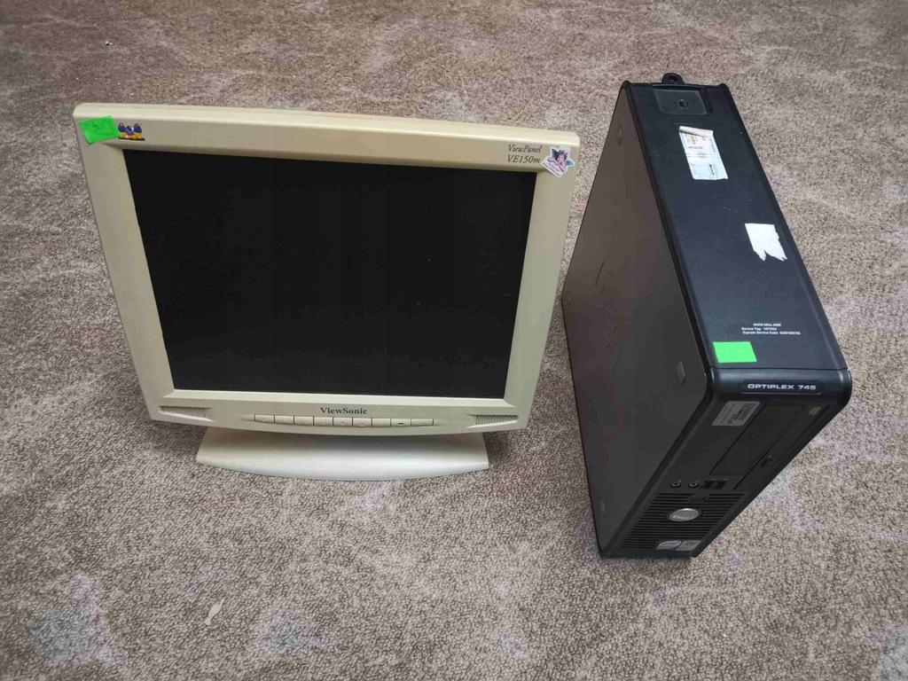 "Zestaw Dell Optiplex 745 + monitor 15"" #3 BCM"