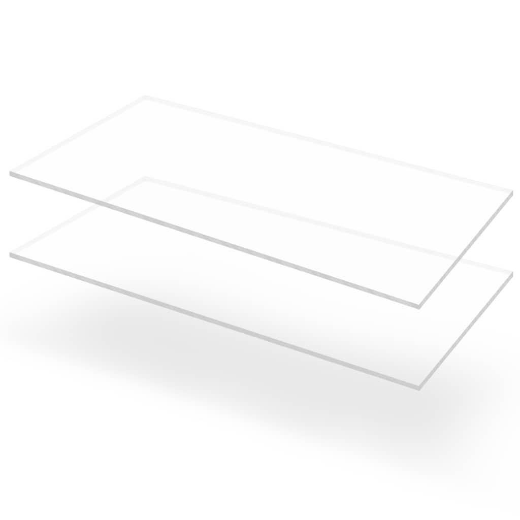 Przezroczyste płyty akrylowe, 2 szt., 60 x 120 cm,