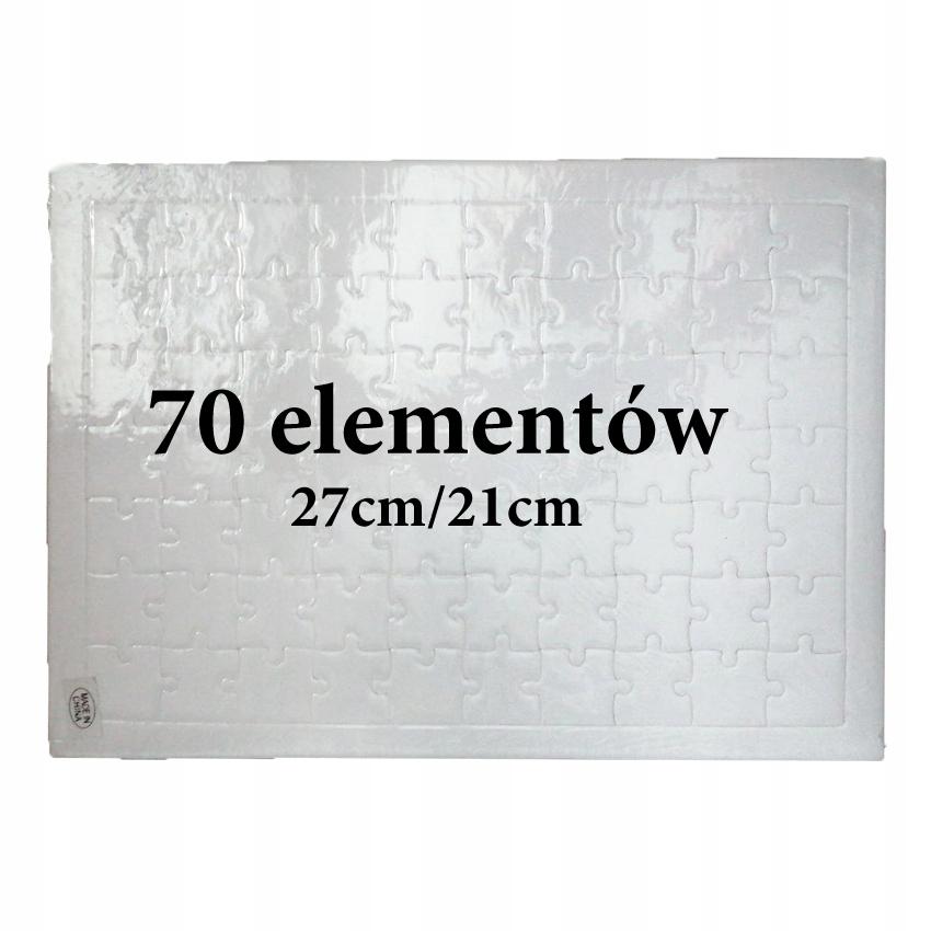 PUZZLE do sublimacji sublimacja W RAMCE 70 elem.