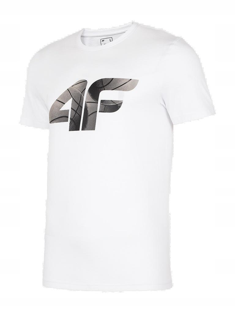 Bawełniana koszulka męska 4F H4L20-TSM032 10S L