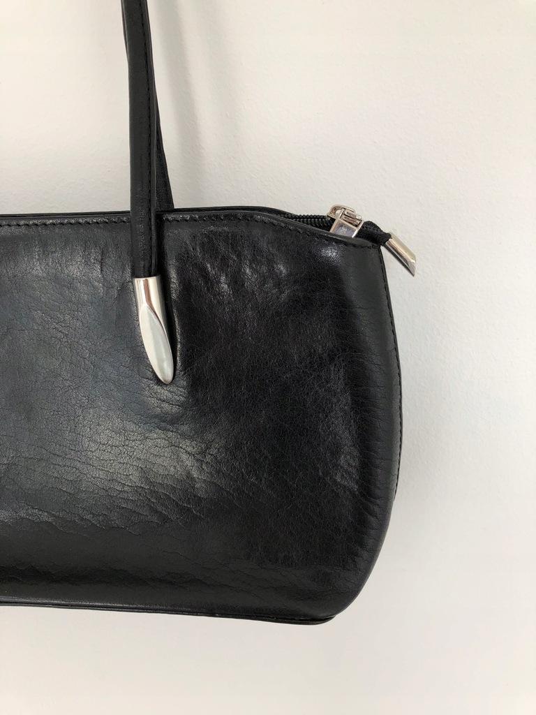 Czarna skórzana torebka Korab