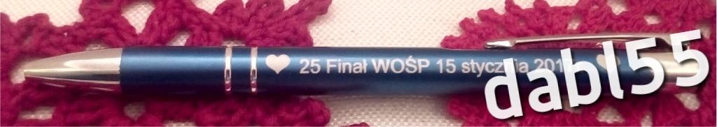Długopis XXV WOŚP niebieski.(3)