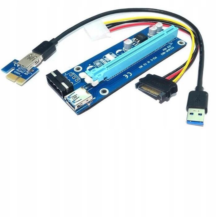 Riser PCi-E 1x - 16x   USB 3.0   SATA/ IDE MOLEX 4