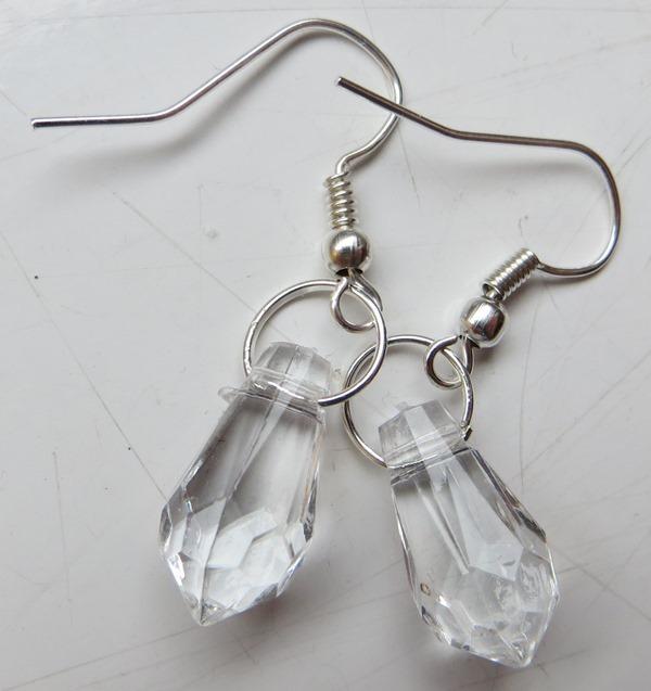 Kolczyki krystaliczne eleganckie