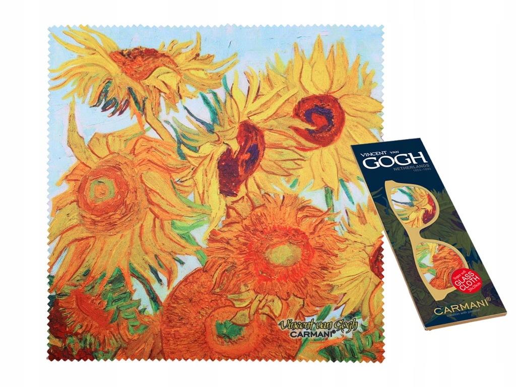 Ściereczka do okularów - V. Van Gogh. Słoneczniki