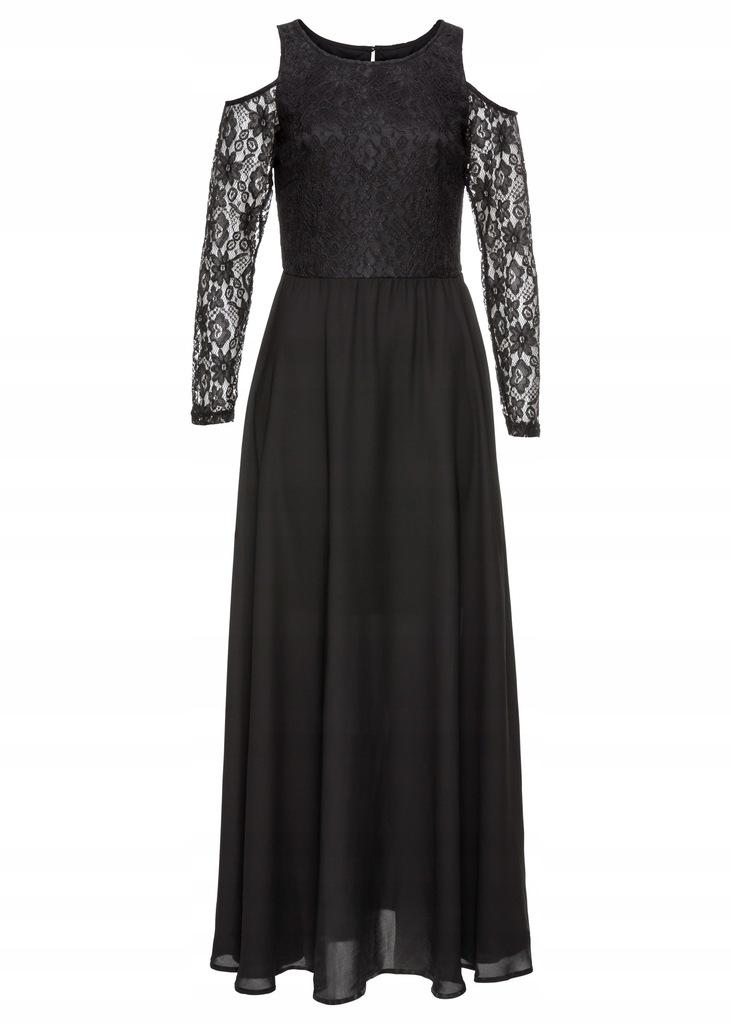 K34 BPC Sukienka wieczorowa z koronką r.36