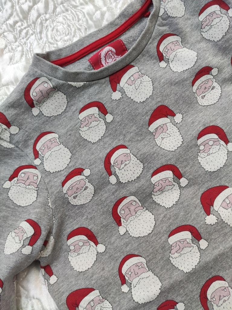 Super bluza TU dresowa świąteczna Mikołaj 146 152