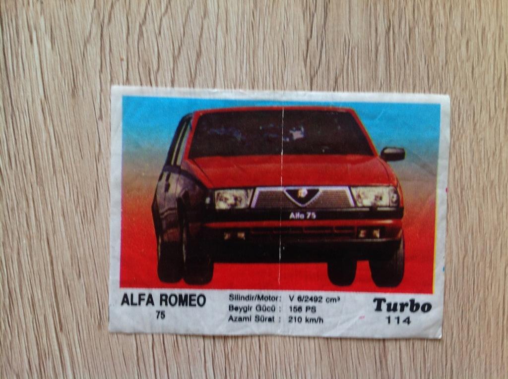 Obrazek Z Gumy Turbo 114 Alfa Romeo 75 8077494341 Oficjalne Archiwum Allegro