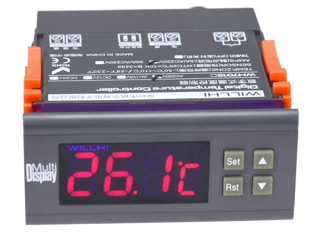 REGULATOR TEMPERATURY -50C +110 ALARM 230V - AD55