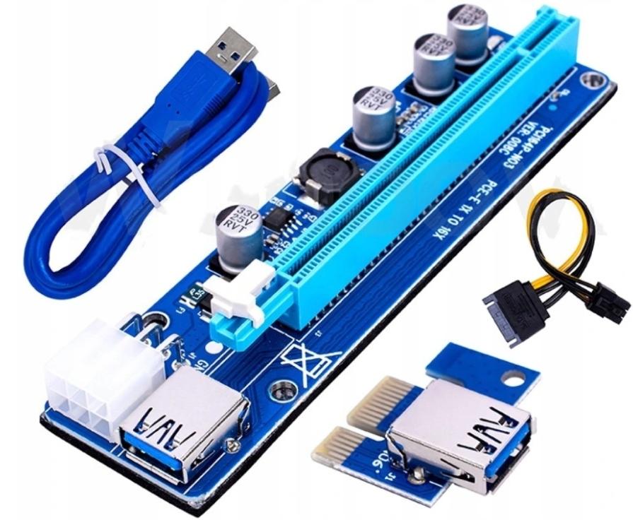 RISER 008C PCI-E 1-16 USB3.0 GW24 NAJLEPSZA VER FV