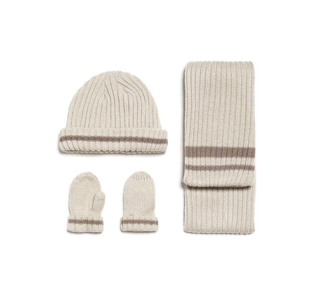 Komplet szalik czapka rękawiczki ZARA 6-12mcy 48cm
