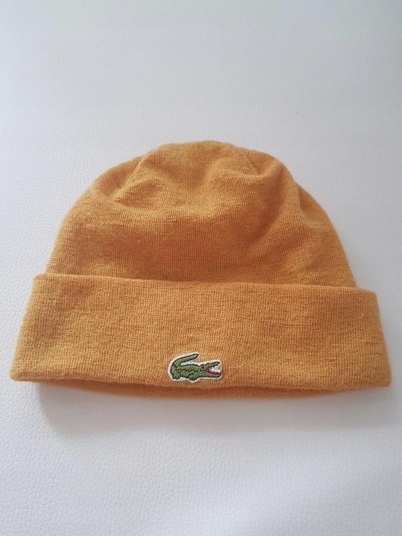 Lacoste czapka miodowa