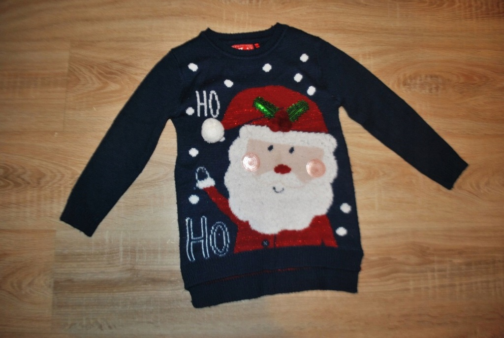 TU świąteczny sweterek ŚWIĘTA MIKOŁAJ 122 BDB