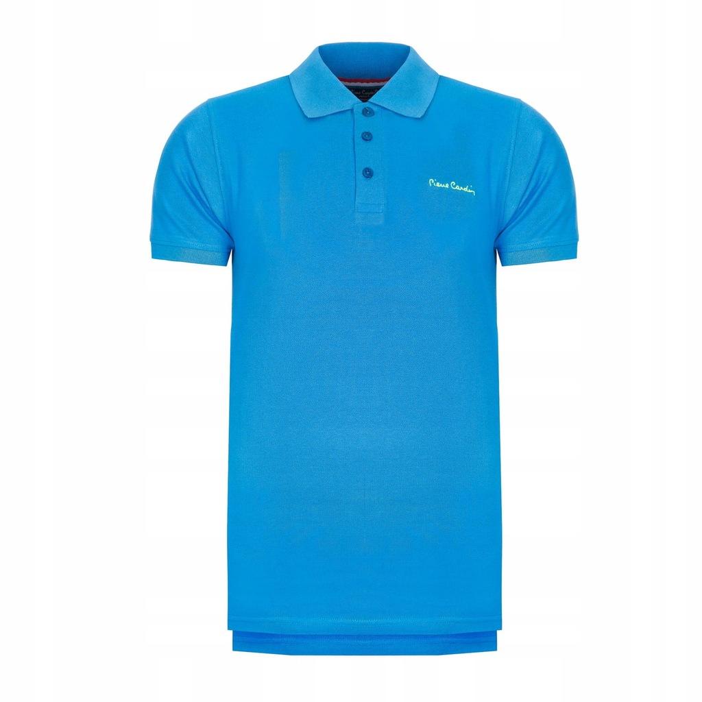 Koszulka polówka POLO PIERRE CARDIN niebieskie S