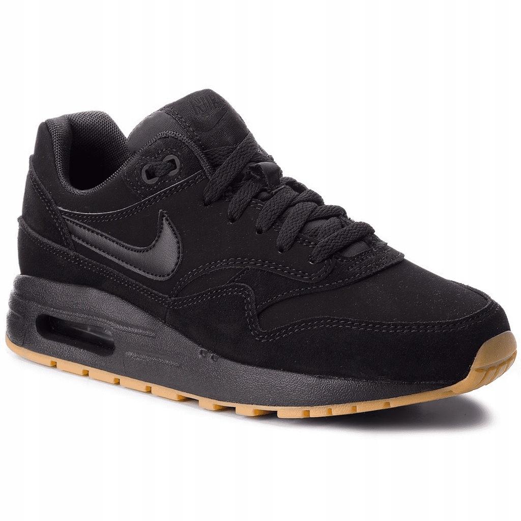 Buty Nike Damskie Air Max 1 (gs) 807602 008 Czarne Ceny i