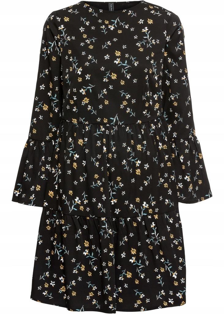 J52 BPC Sukienka z falbanami w kwiaty 36