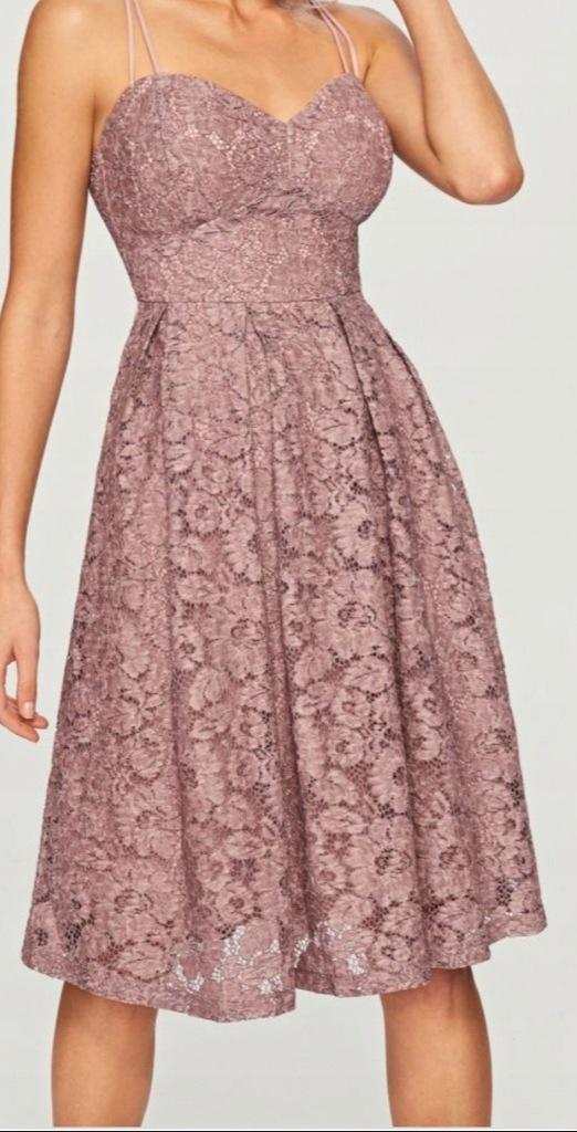 Reserved sukienka L 38 40 koronka jak nowa