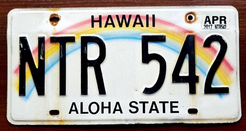 Tablica Rejestracyjna Usa Hawaii 2017 P 8289903598 Oficjalne Archiwum Allegro